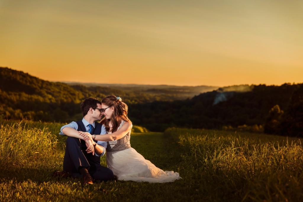 Wedding at Laurelville Mennonite Church Center - Sunset Hill