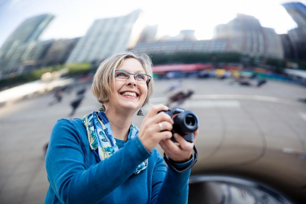"Heike at Cloud Gate aka ""The Bean"", Chicago"