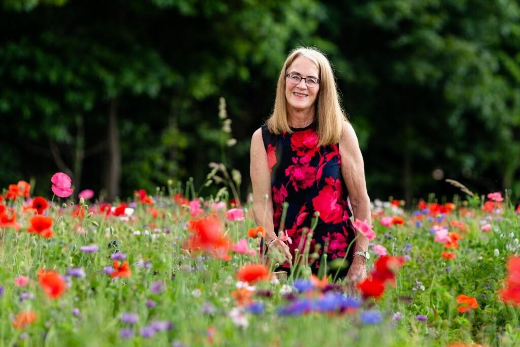 portraits in wildflower field