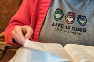 Life is Good T-shirt - branding