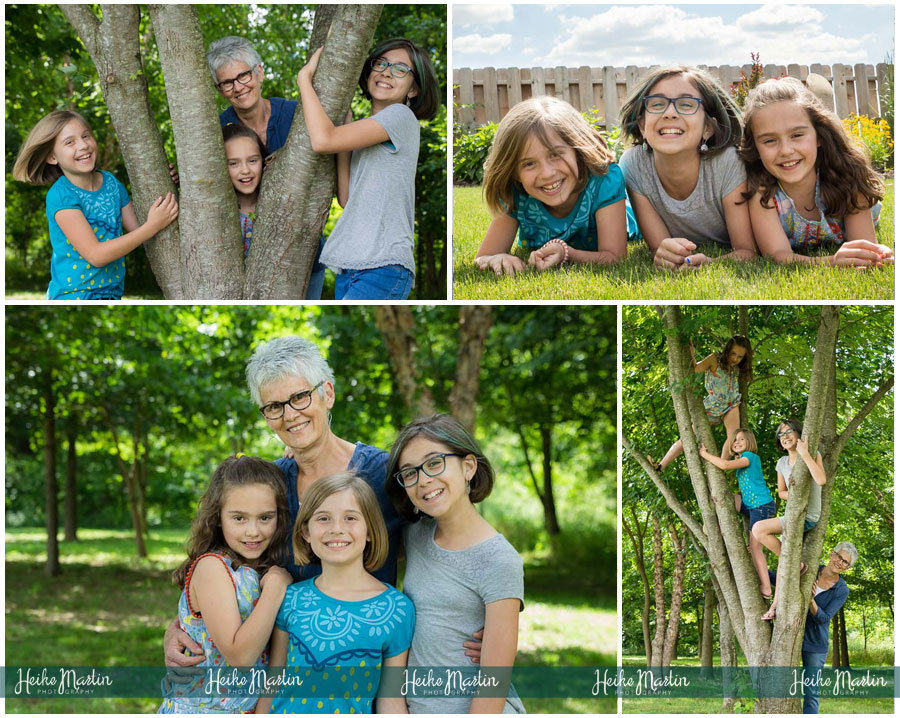 family lifestyle children grandparents natural light