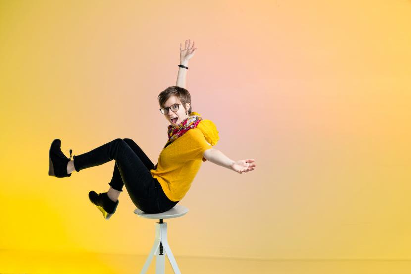 fun, colorful, modern business portrait