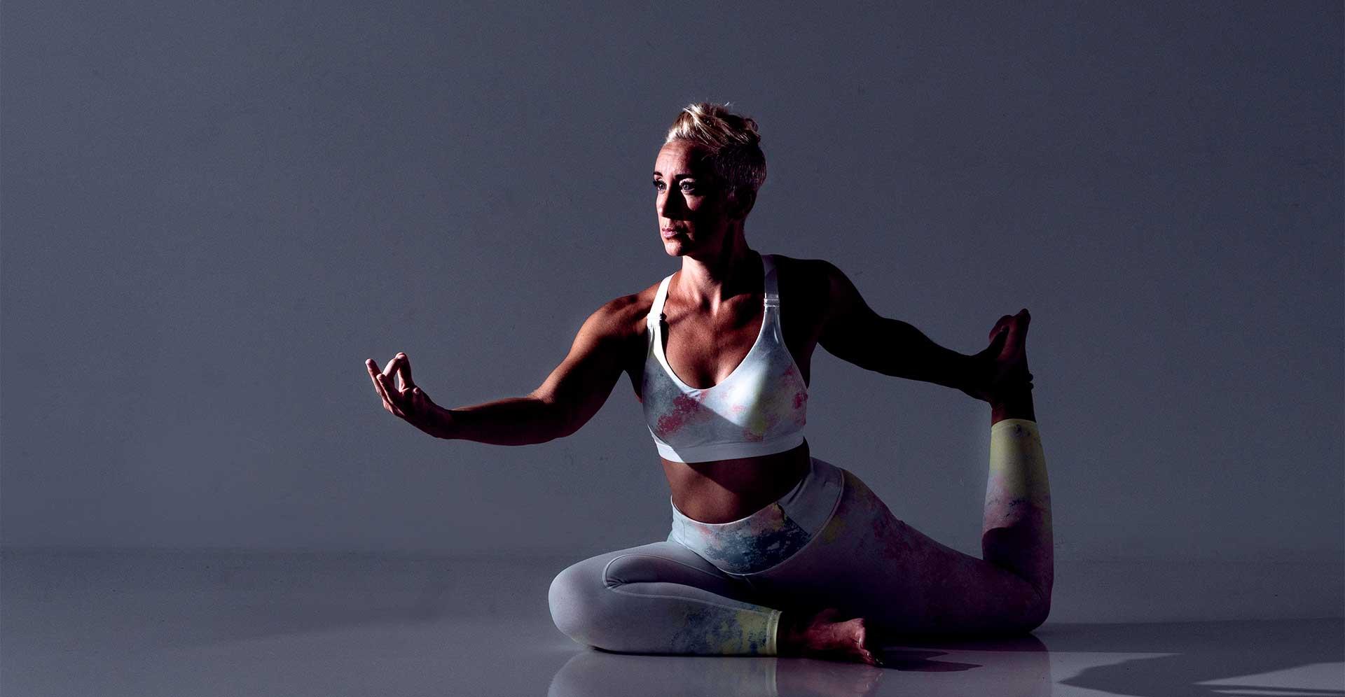Kelly Whalen yoga pose at Supply Studio